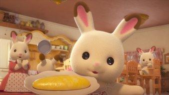 Bonjour la famille lapin chocolat !