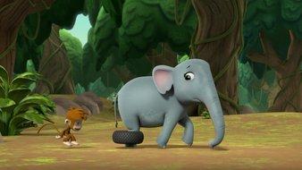 Un éléphant en colère