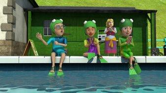 Le spectacle de grenouilles