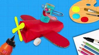 Un avion rouge