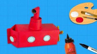 Un sous-marin rouge