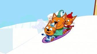Pentes enneigées et snowboard