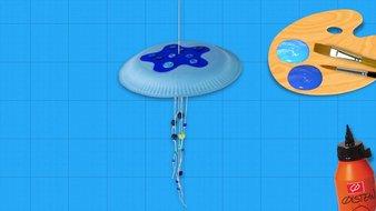 Une méduse amusante