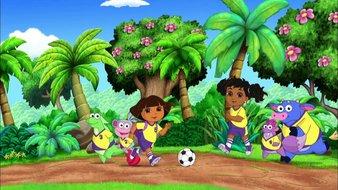 Dora et la coupe d'or de football