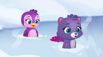 Nager dans les flocons de neige