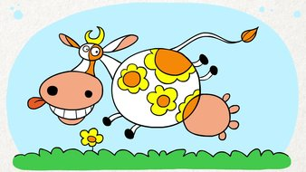 La vache hippie