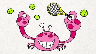 Le crabe tennisman