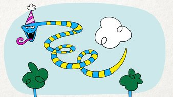 Serpent d'anniversaire