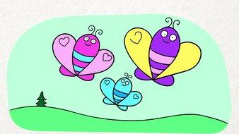 Cœurs et papillons