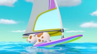 Le cochon surfeur