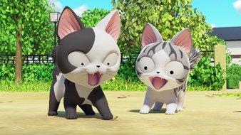 Chi et les deux chatons