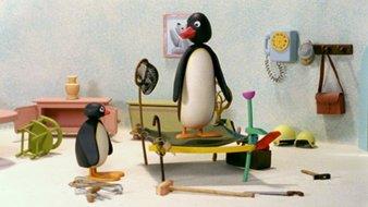 Pingu construit un trampoline