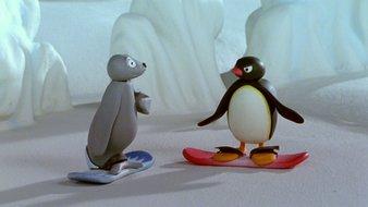 Pingu le snowboarder