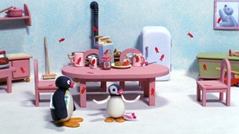 Pingu et les autocollants