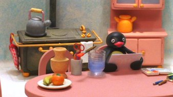 Pingu et la peinture