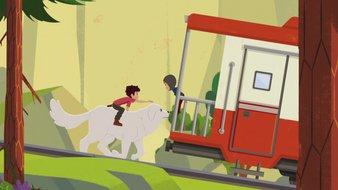 Course contre le train