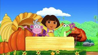 Dora fête le jour de Thanksgiving